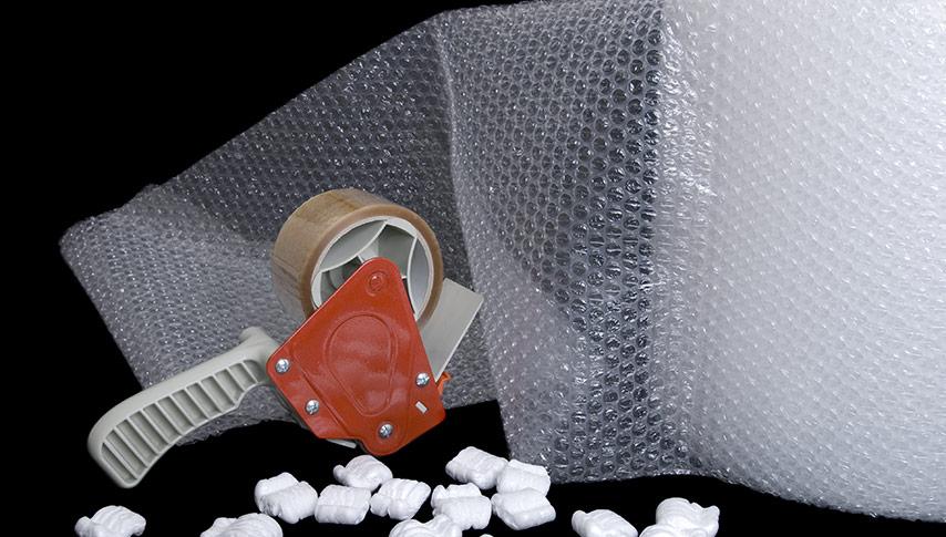 Skydda föremål med bubbelplast